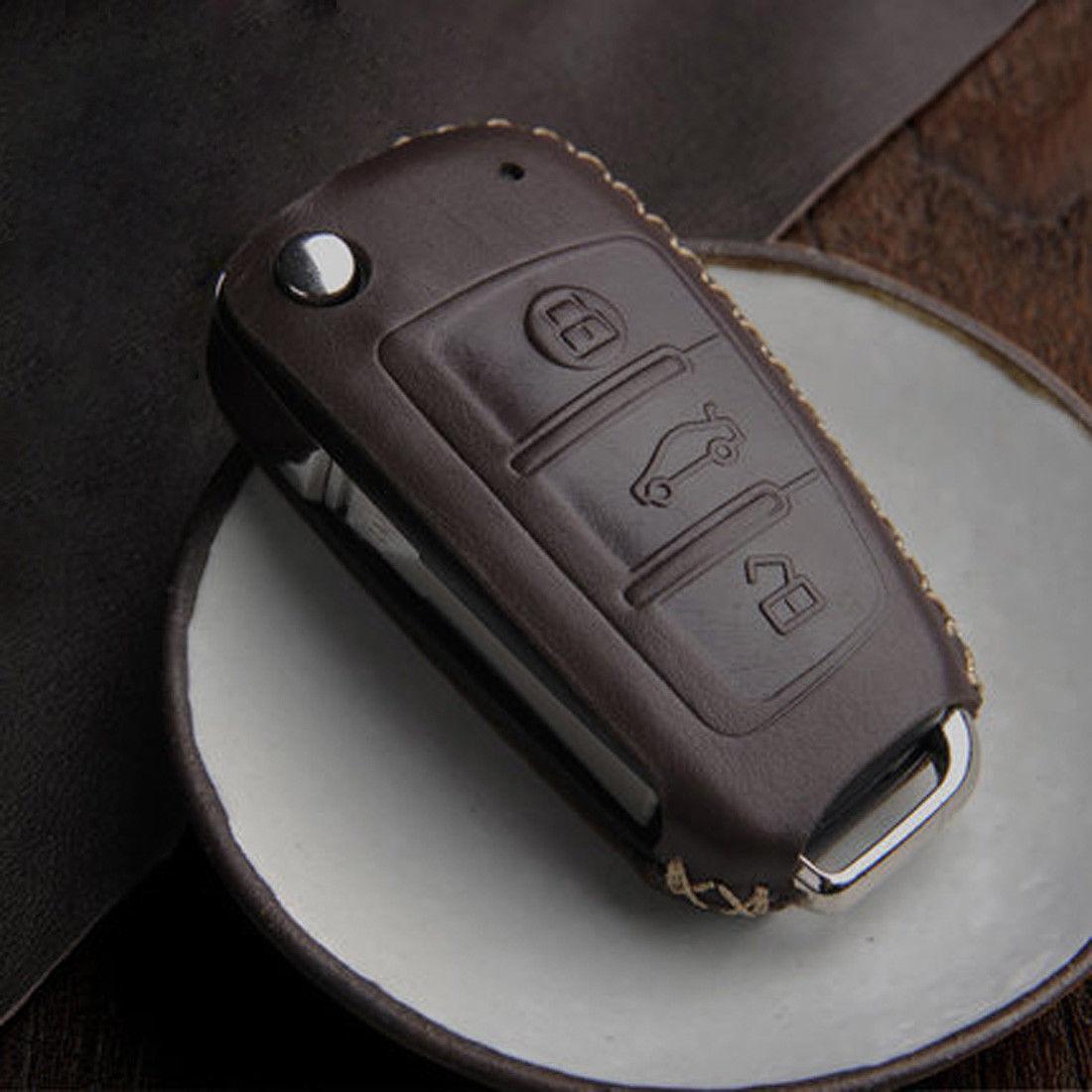 Кожаный чехол для ключа Audi A1,A3,A4,A5,A6,A6 ALLROAD QUATTRO,A7,A8,Q2,Q3,Q5,Q7,Q8,R8,RS Q3,RS3,RS4,RS5