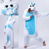 Кигуруми бело-голубой единорог взрослый krd0050