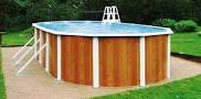 Бассейн Esprit Wood овальный 3,66 х 7,32м х 1,32м (объем 28,2 м3)