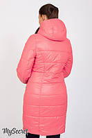 Длинное зимнее двухстороннее пальто для беременныхKRISTIN