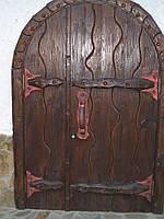 """Двери под старину арочные""""Винный погреб""""."""