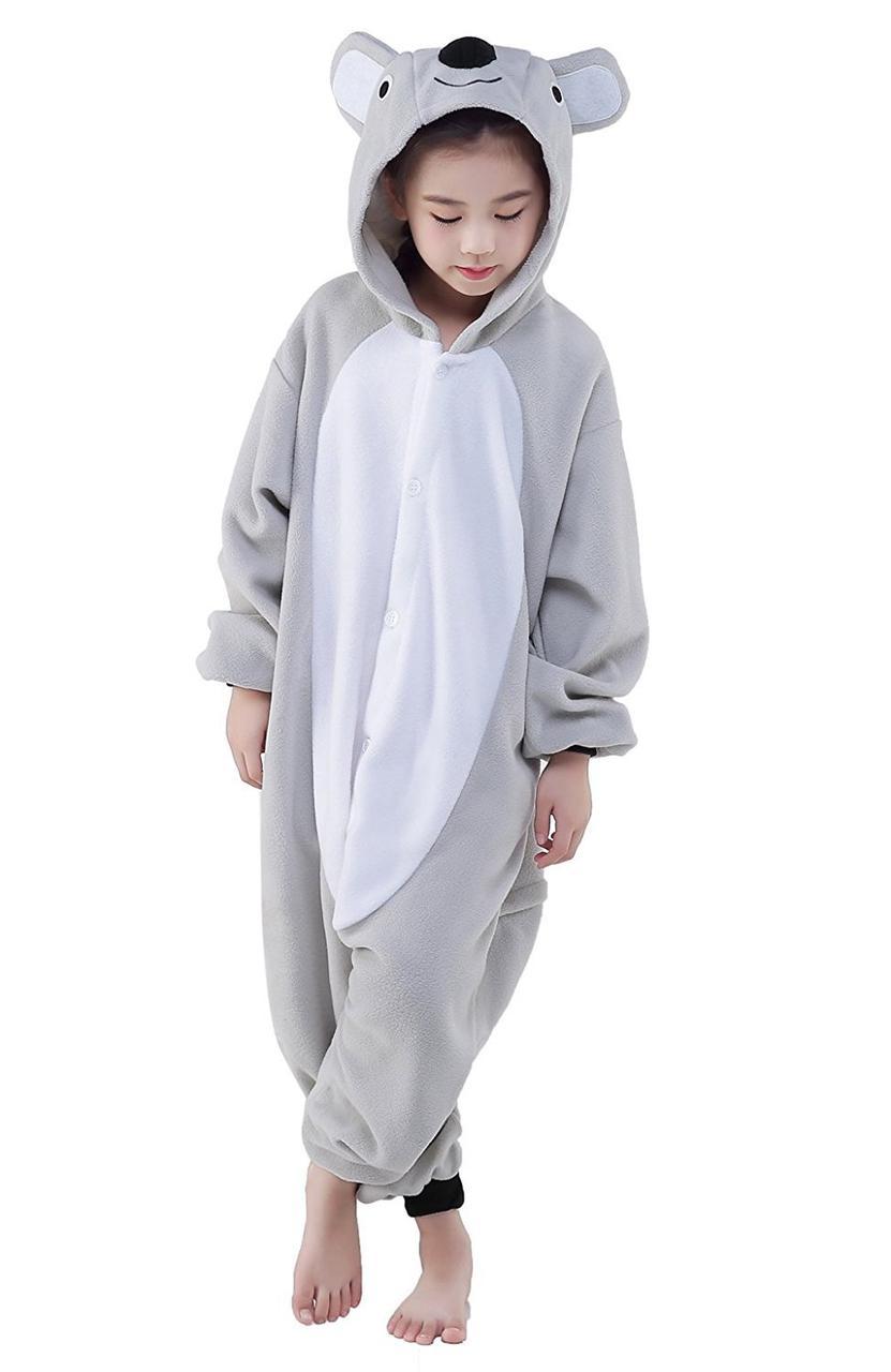 Детский кигуруми коала серая krd0035 07343e6da0262