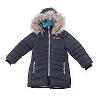 Зимнее пальто для девочки NANO F18 M 1252 Dk Gray Mix. Размеры 4-14., фото 1