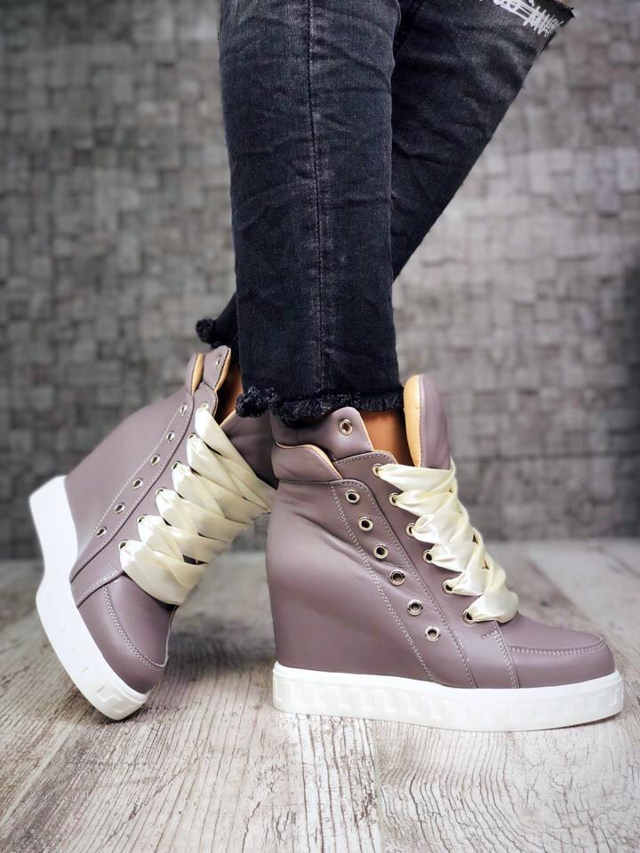 673c16cda Стильные ботинки-сникерсы. Натуральная кожа, внутри байка.: продажа ...