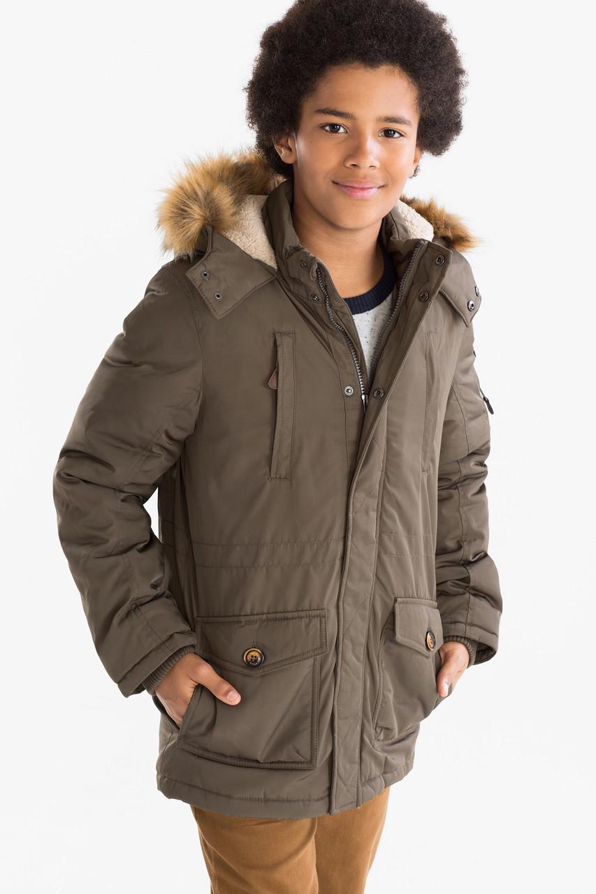 Зимняя парка для мальчика подростка C&A Германия Размер 146, 158, 164
