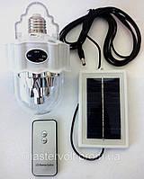 Лампа-фонарь аккумуляторная+солнечная батарея Yajia 1886, 22 LED, E27, пульт д/у, фото 1