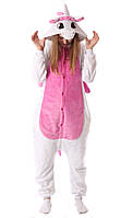 Женский кигуруми бело-розовый единорог tkrd0051