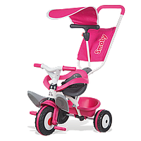Металлический велосипед Smoby с багажником и козырьком Розовый 444207 5bc58fe145e51