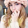 Женская зимняя шерстяная шапка, фото 5
