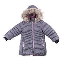 Зимнее пальто для девочки NANO F18 M 1252 Gray Mix Confetti. Размеры 4, 5 и 6., фото 1