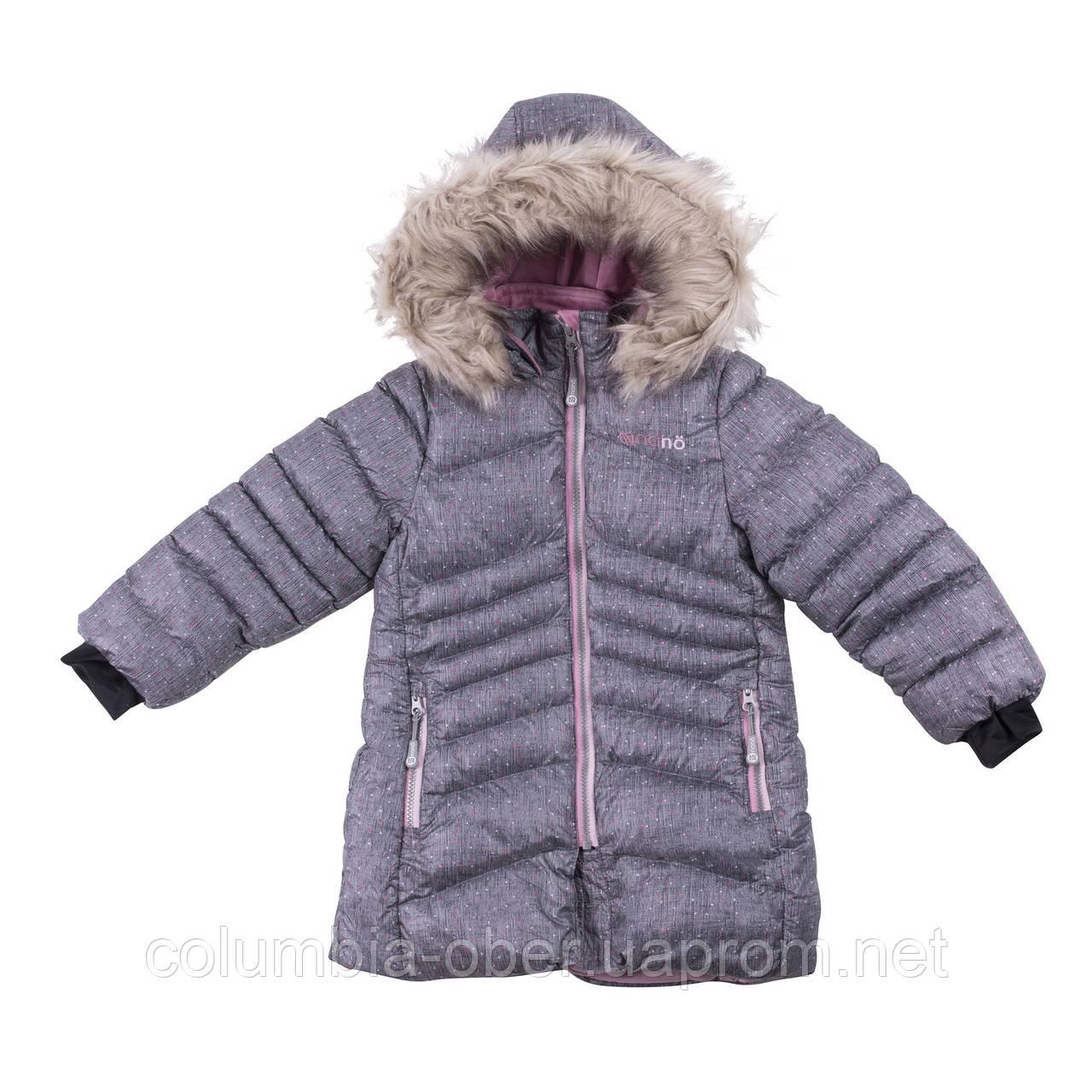 Зимнее пальто для девочки NANO F18 M 1252 Gray Mix Confetti. Размеры 4, 5 и 6.