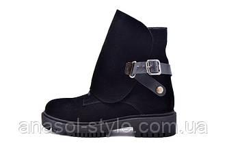 Женские зимние ботинки Teona замша черные