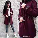 Легкое кашемировое женское Пальто с кулиской 9pt114, фото 3