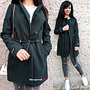 Легкое кашемировое женское Пальто с кулиской 9pt114, фото 5