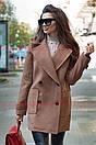 Двубортное женское Пальто оверсайз с лацканами 71pt117, фото 2