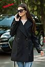 Двубортное женское Пальто оверсайз с лацканами 71pt117, фото 3