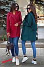 Двубортное женское Пальто оверсайз с лацканами 71pt117, фото 5