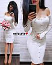 Ангоровое платье с открытыми плечами и пуговицами 9py1916, фото 4