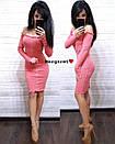 Ангоровое платье с открытыми плечами и пуговицами 9py1916, фото 5