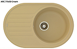 Овальна кухонна мийка Fabiano ARC 77x50, фото 3