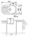 Овальна кухонна мийка Fabiano ARC 77x50, фото 5