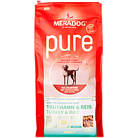 Сухой гипоаллергенный корм щенков и кормящих собак Meradog Pure Junior Turkey & Rice 053576, 12.5 кг