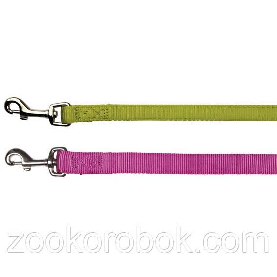 Поводок для собак Trixie Premium нейлоновый L–XL, 1,00 м/25 мм, 200320 ярко-розовый