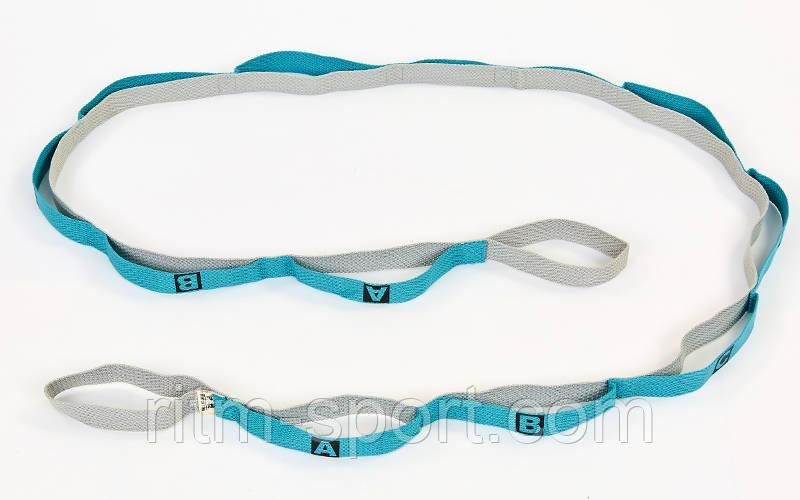 Лента для растяжки Stretch Strap (12 петель, нейлон)