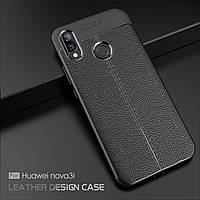 Чехол бампер Leather для Huawei P Smart Plus \ P Smart+
