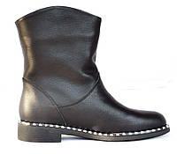 Сапоги женские кожаные зимние, черные. Размеры 36, 37, 38, 40. Viscala 27981/02.