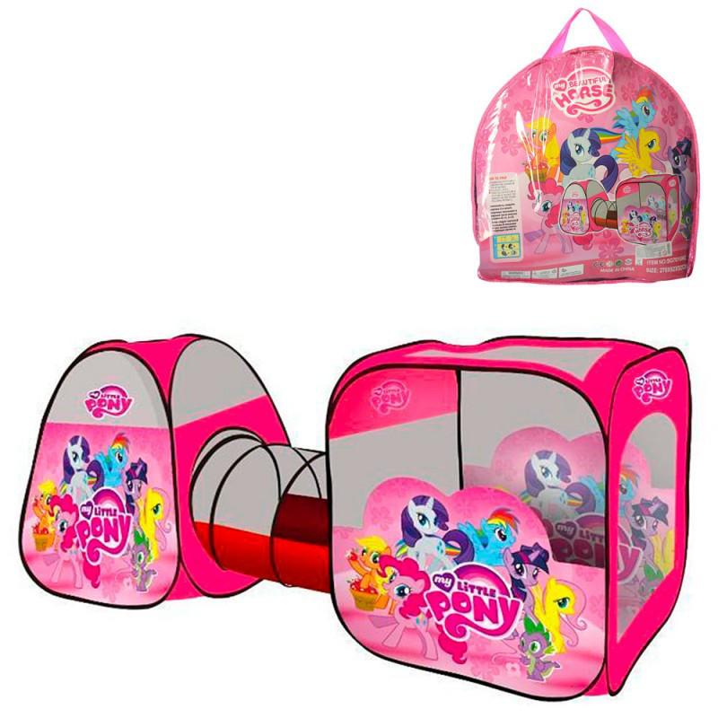 """Дитячий ігровий намет з тунелем для дівчинки Bambi """"Поні"""" M 3774 LP (розмір 270*92*92 см)"""