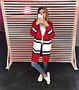 Вязаный женский кардиган с полоской 65pk157, фото 2