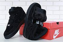 Зимние кроссовки Nike Air Force  Black/Blackс мехом, мужские кроссовки, фото 2