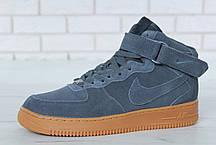 Зимние кроссовки Nike Air Force Grey Gum мехом, мужские кроссовки. ТОП Реплика ААА класса., фото 3