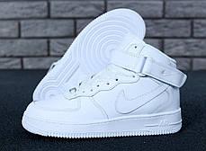 Зимние кроссовки Nike Air Force Brown с мехом, женские кроссовки. ТОП Реплика ААА класса., фото 2