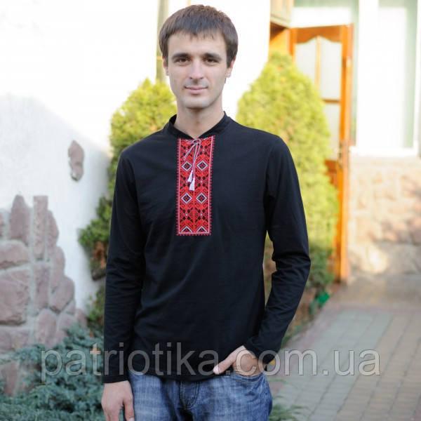 Мужская вышиванка длинный рукав | Чоловіча вишиванка довгий рукав