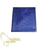 Набор салфеток 40*40, Атласный рисунок Acelya, синий