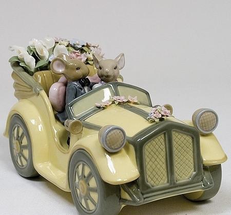 """Порцеляновий музична фігурка мишки """"Весільна пара"""" Pavone CMS - 15/56"""
