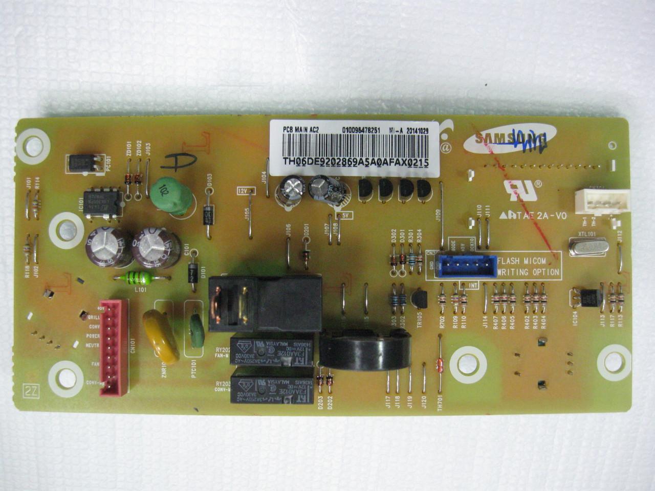 Плата управления духового шкафа Samsung DE92-02869A