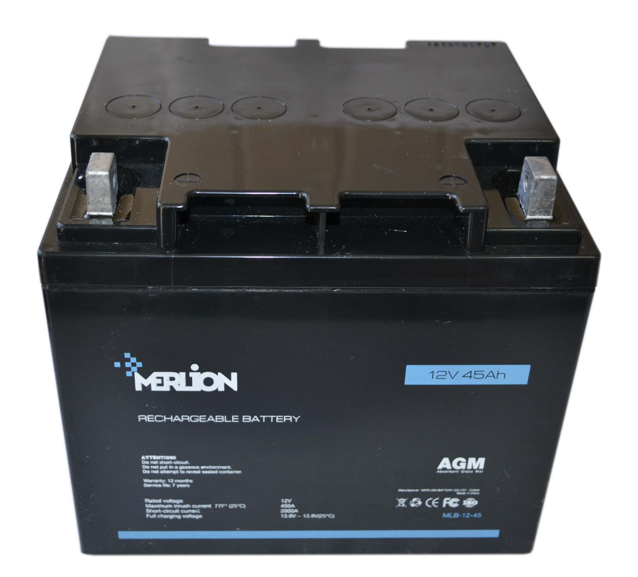 Аккумулятор мультигелевый MERLION MLB-12-45 12V 45AH, (AGM) для ИБП
