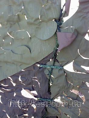 Сетка маскировочная, плотность 95%, цвет хаки (камуфлированная)  размер 3 x 6 м. Чехия., фото 2
