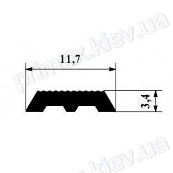 Резиновая вставка в противоскользящие накладки 11,7*3,4мм.