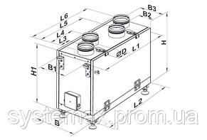 ВЕНТС ВУТ 300 В мини ЕС: приточно-вытяжная установка (вертикальная, ЕС-мотор), фото 3