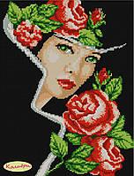 """Схема для вышивки """"Дама с розами"""""""