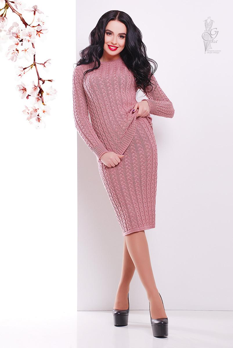 Костюм вязаный стильный Бенита-4 свитер+юбка