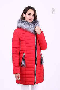 Куртка зимняя женская теплая Номи-3 с искусственным мехом