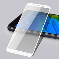 3D защитное стекло для Xiaomi Redmi Note 5 Pro (на весь экран) Белый