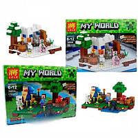 Конструктор Lele 79252 MineCraft Майнкрафт(Аналог LEGO Minecraft) 2 вида 172 деталей