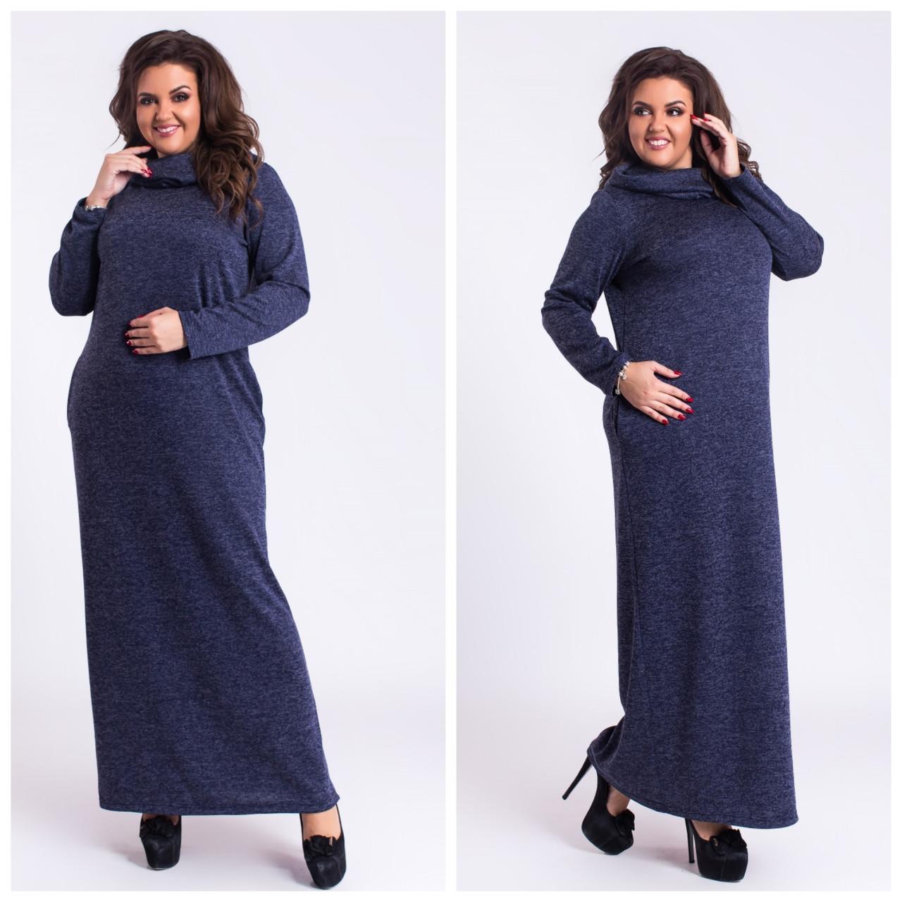 72a401d8ed7 Платье осеннее в пол с карманами и капюшоном в расцветках 2762 ...