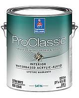 Эмаль ProClassic Interior Waterbased Acrylic-Alkyd (шервин вильямс про классик) - 1 Gal, полуматовая